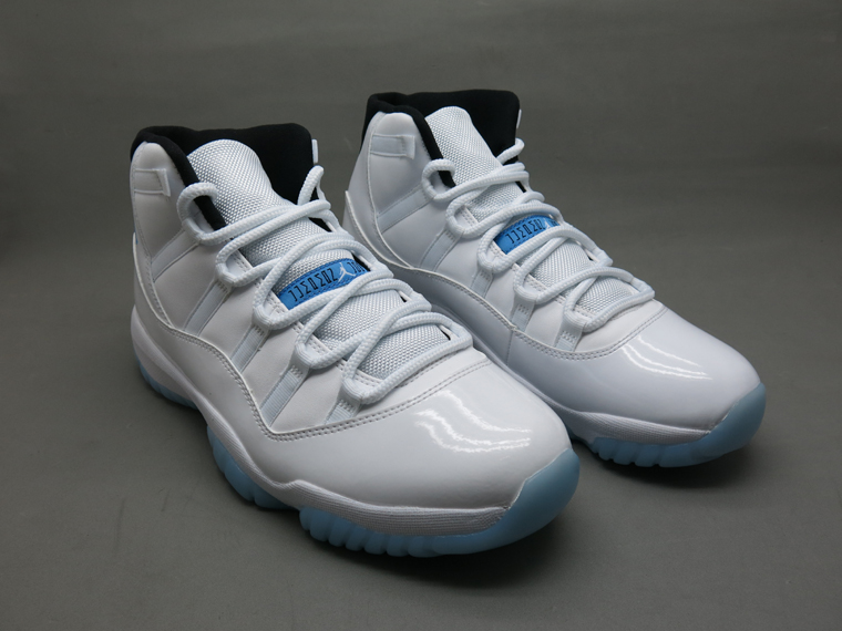 AAA+ Classic Replica Air Jordan 11 White Blue Men #179242 replica