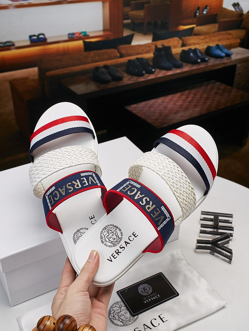 Versace shoes for versace Slippers for men #305956 replica