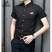 HERMES shirts for HERMES short sleeved shirts for men #349400