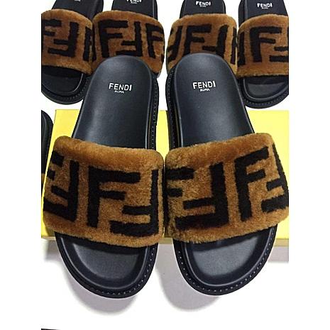 Fendi shoes for Fendi slippers for women #351073 replica