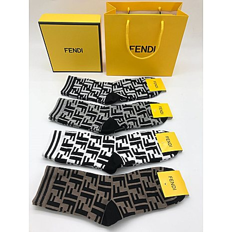 Fendi 4pcs Socks #356090 replica