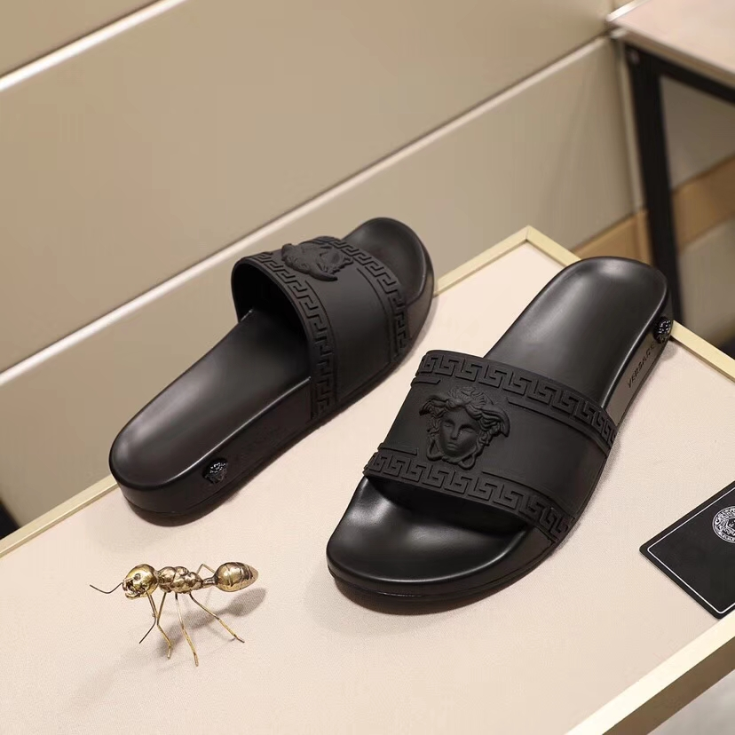 Versace shoes for versace Slippers for men #359208 replica