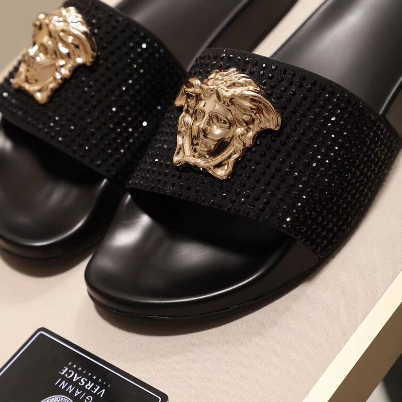Versace shoes for versace Slippers for men #359218 replica