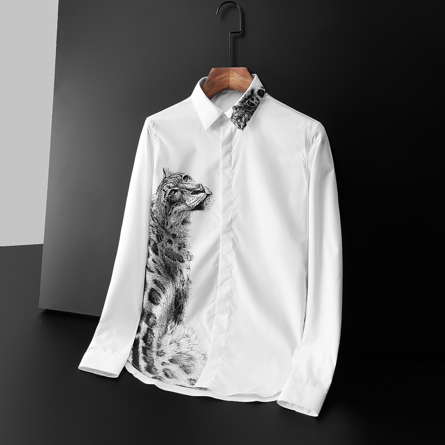 Givenchy Shirts for Givenchy Long-Sleeved Shirts for Men #395300 replica