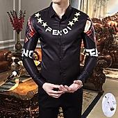 Fendi Shirts for Fendi Long-Sleeved Shirts for men #389290