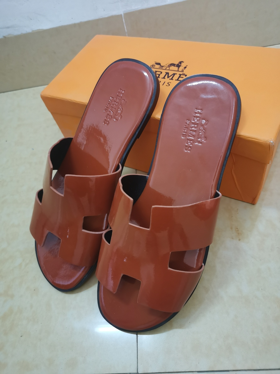 SPECIAL OFFER HERMES Shoes for Men's HERMES Slippers Size:US12=EUR46 #421800 replica