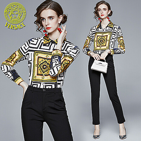 Versace Shirts for versace Long-Sleeved Shirts for Women #430673