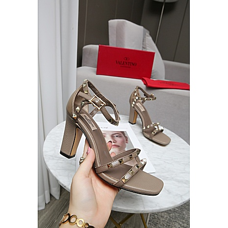 valentino 9cm high heeled shoes for women #432118
