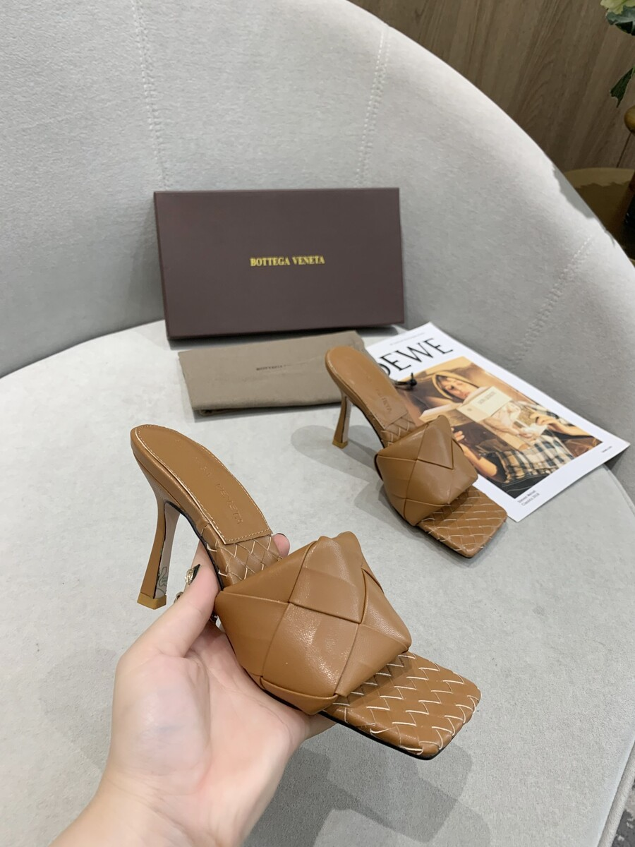 Bottega Veneta 9.5cm high heeled shoes for women #427579 replica
