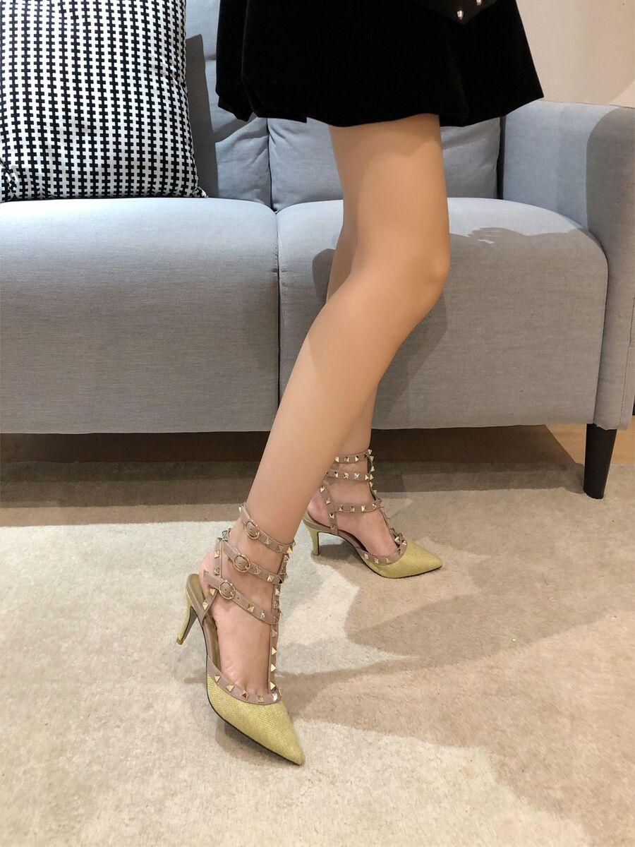 valentino 6.5cm high heeled shoes for women #430542 replica