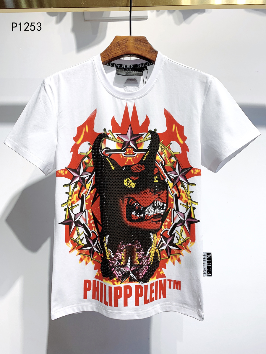 SPECIAL OFFER philipp plein t-shirts for men Size:XL #439776 replica