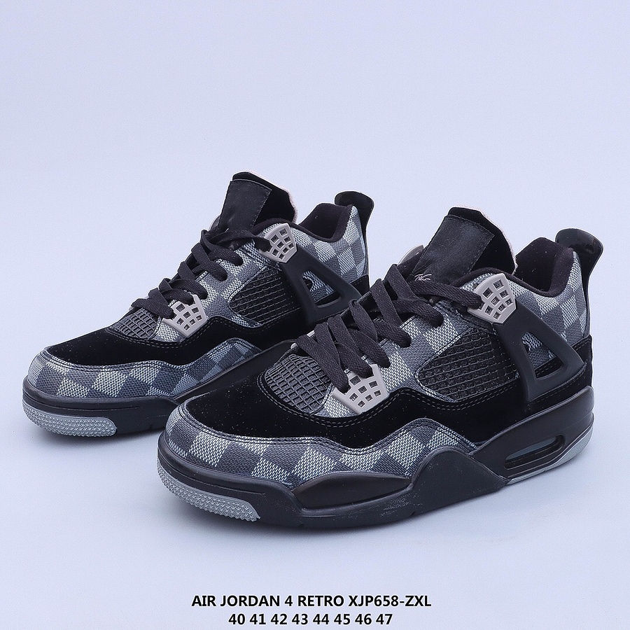 Louis Vuitton X Air Jordan 4 Shoes for men #439890 replica