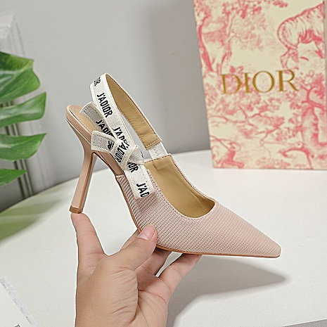 Dior 9.5cm high heeled shoes for women #442141