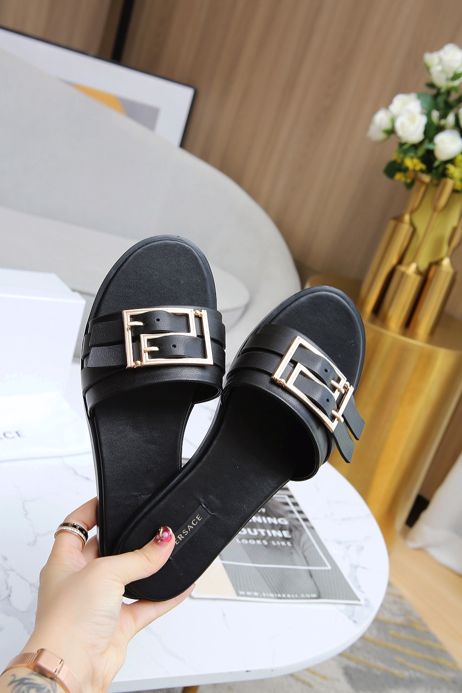 Versace shoes for versace Slippers for Women #443890 replica