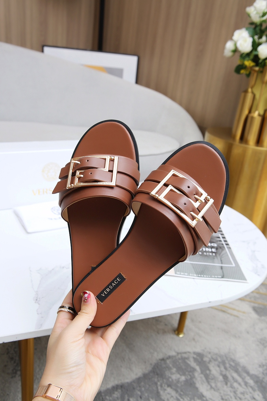 Versace shoes for versace Slippers for Women #443893 replica