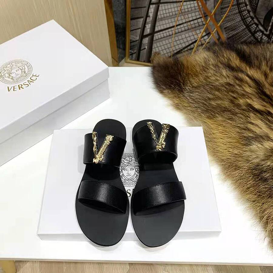 Versace shoes for versace Slippers for Women #450857 replica