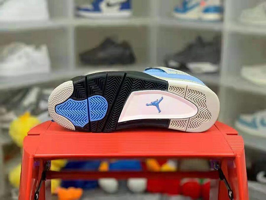 Air Jordan 4 Retro SE University Blue Tech Grey White Black CT8527-400 #455252 replica