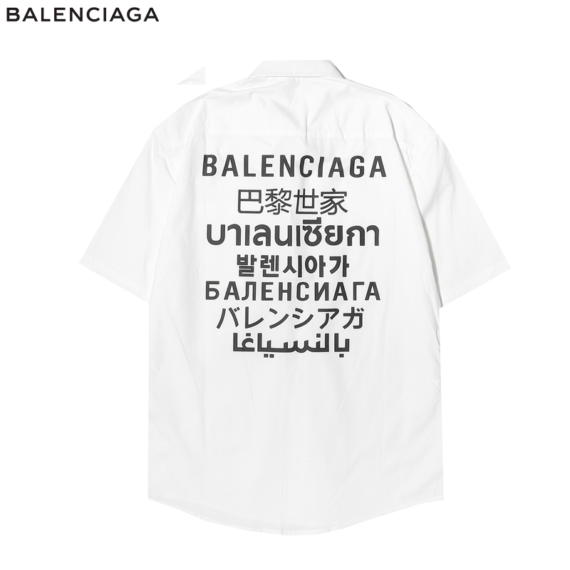 Balenciaga Shirts for Balenciaga short sleeved shirts for men #455281 replica