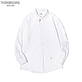 THOM BROWNE Shirts for THOM BROWNE Long-Sleeved Shirt for men #454962