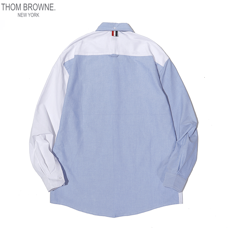 THOM BROWNE Shirts for THOM BROWNE Long-Sleeved Shirt for men #460824 replica