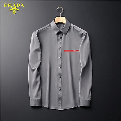 Prada Shirts for Prada long-sleeved shirts for men #465854 replica