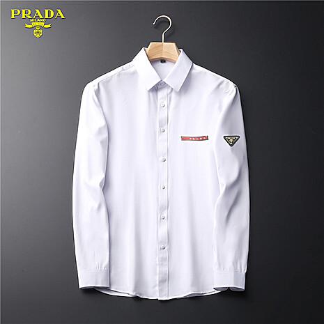 Prada Shirts for Prada long-sleeved shirts for men #465862 replica