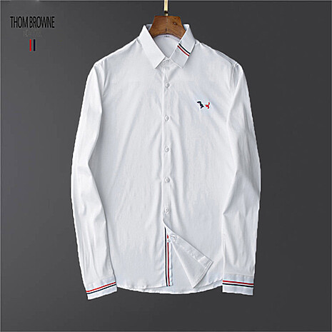 THOM BROWNE Shirts for THOM BROWNE Long-Sleeved Shirt for men #473474