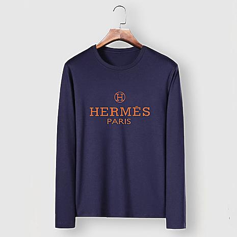 HERMES Long-Sleeved T-shirts for MEN #477291 replica