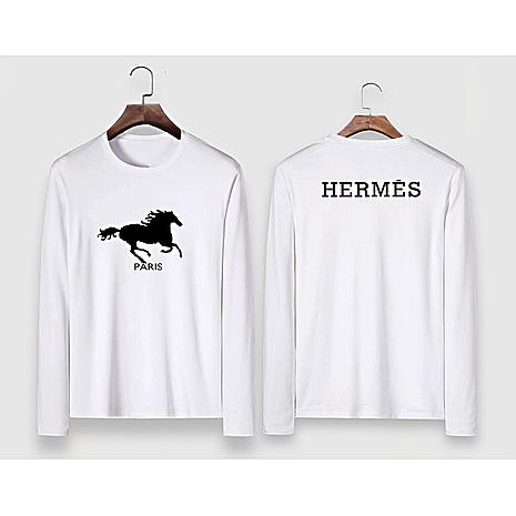 HERMES Long-Sleeved T-shirts for MEN #477295 replica