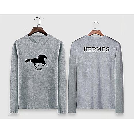 HERMES Long-Sleeved T-shirts for MEN #477296 replica