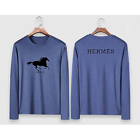 HERMES Long-Sleeved T-shirts for MEN #477299 replica