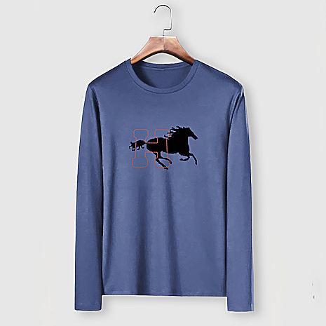 HERMES Long-Sleeved T-shirts for MEN #482004 replica
