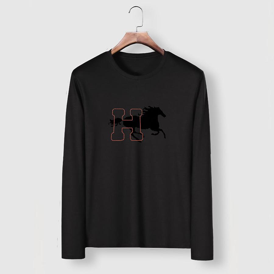 HERMES Long-Sleeved T-shirts for MEN #482002 replica